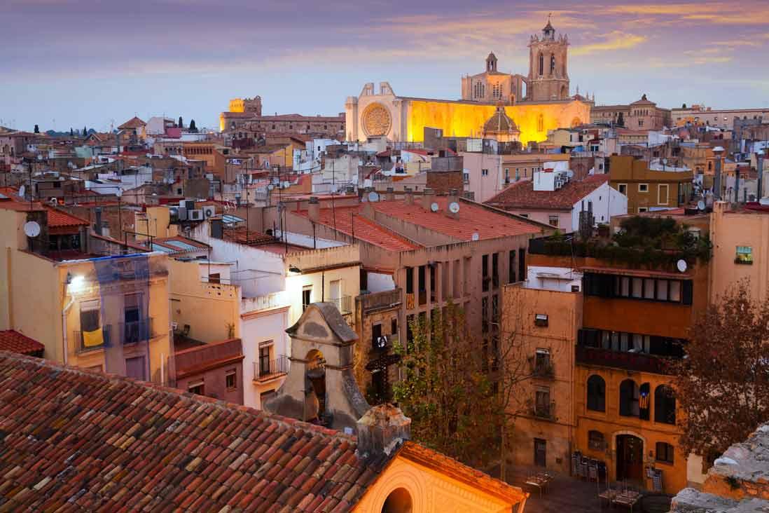 foto aerea casco antiguo de Tarragona