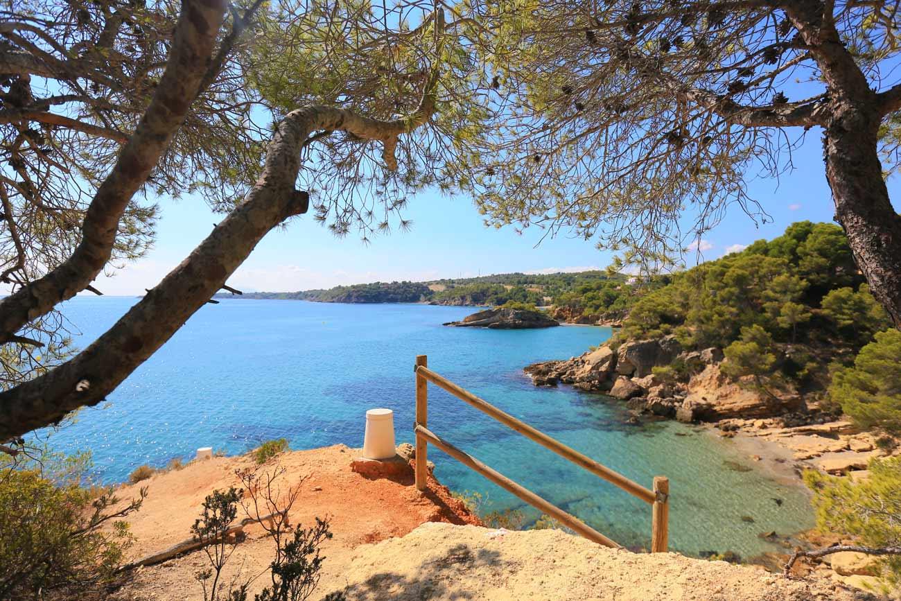 las mejores playas de Tarragona playa l'illot ametlla de mar
