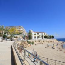 Vista panoramica de la playa de Alguer