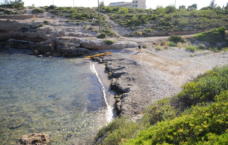 playa bon caponet en ametlla de mar