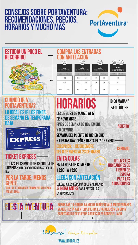 Infografia sobre consejos portaventura en Salou