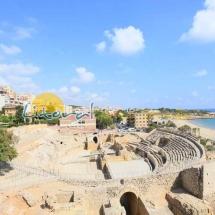 Vista aereal del Anfiteatro Romano de Tarragona