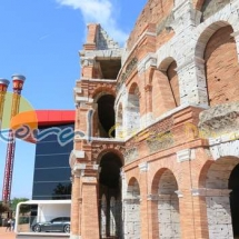 Coliseo romano en Ferrari Land PortAventura