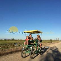 excursion en cuatriciclo en el delta del ebro