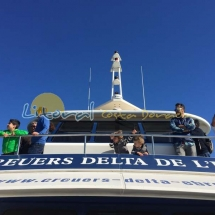 Cruceros turisticos en la desembocadura del Ebro