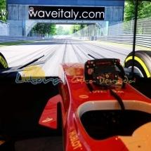 Simuladores de Formula 1 en Pole Position Challene de Ferrari Land