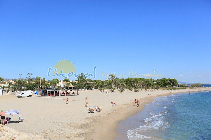 playa de la Punta del Rio en Hospitalet del Infant