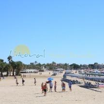 Playa principal de Cambrils en el centro del municipio