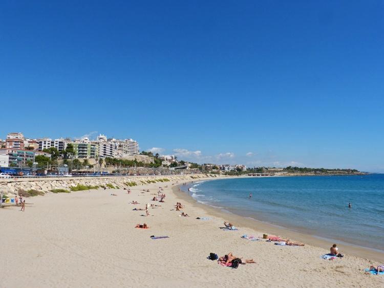 Vista de la playa larga de Tarragona