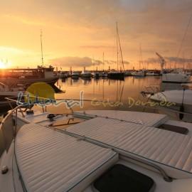 Amanecer en el puerto de Cambrils