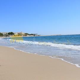 Playa del arenal en el centro de la ciudad
